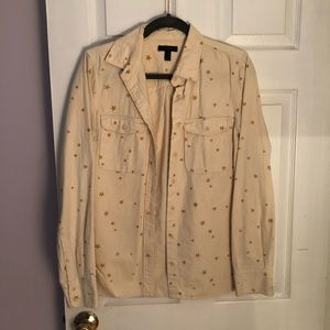 J crew gold star ecru shirt